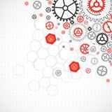 Abstract technological background with various cogwheels Stock Photography