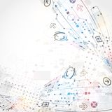 Abstract technological background Royalty Free Stock Photo