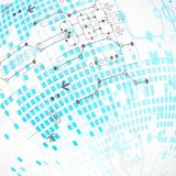 Abstract technological background. Stock Images