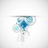Abstract technological background with various elements Stock Photos