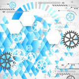 Abstract technological background Stock Photo