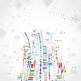 Abstract technological background with various technological ele Royalty Free Stock Image