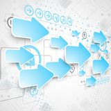 Abstract technological background with various technological ele Stock Images