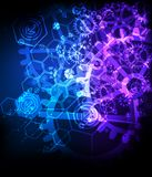 Abstract technological background with various technological ele Royalty Free Stock Photo