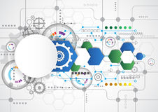 Abstract technological background with various technological elements. illustration vector Stock Photo