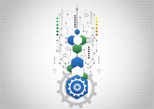 Abstract technological background with various technological elements. Innovation Royalty Free Stock Photography