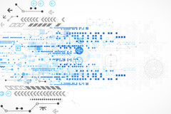 Abstract technological background with various technological elements Royalty Free Stock Photo