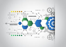 Abstract technological background with various technological elements. Vector illustration innovation Stock Image