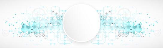 Abstract technological background. Royalty Free Stock Image