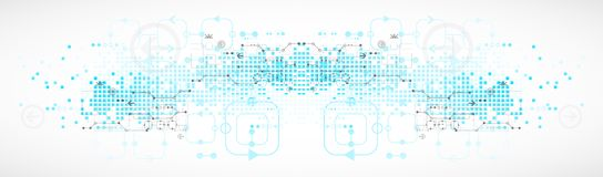 Abstract technological background. Royalty Free Stock Photography