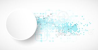 Abstract technological background. Stock Photos