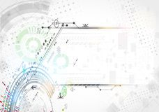 Abstract technological background. Royalty Free Stock Photo