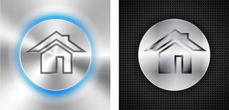 Abstract technological backgrounds with home icon Stock Image