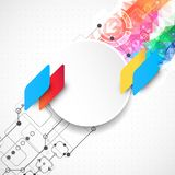 Abstract technological business background with color shapes Stock Photo