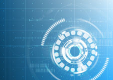 Abstract technological future interface digital blueprint  Royalty Free Stock Image