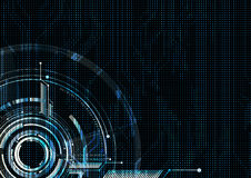 Abstract technological futuristic interface dotted circuit vecto Royalty Free Stock Photos