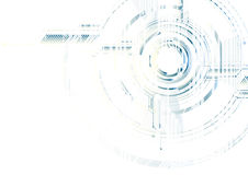 Abstract technological futuristic interface on white circuit vec Stock Images