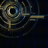 Abstract technological futuristic metallic interface vector back Royalty Free Stock Image