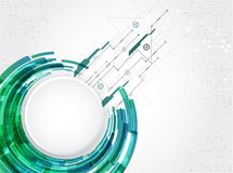 Abstract technological theme circle background. Vector vector illustration