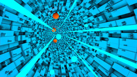 Abstract technological tunnel Stock Photography