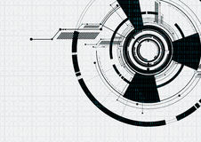 Abstract technological white futuristic interface vector backgro Royalty Free Stock Image