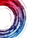 Abstract technologie achtergrondcirkel digitaal grafisch behang vector illustratie
