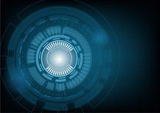 Abstract technologie achtergrondhi-tech concept, Vectorillustrat Royalty-vrije Stock Afbeeldingen