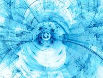 Abstract technologie-onduidelijk beeld - digitaal geproduceerd beeld Stock Afbeeldingen