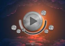 Abstract Technologieapp Pictogram met Muziekknoop stock illustratie
