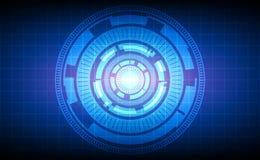Abstract technologiecirkels en net op blauwe achtergrond Royalty-vrije Stock Foto's