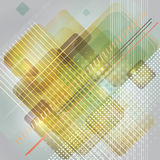 Abstract technologieontwerp als achtergrond met rechthoeken. Stock Foto