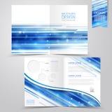 Abstract technologieontwerp als achtergrond voor helft-vouwen brochure stock illustratie