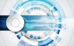 Abstract technologisch concept als achtergrond met diverse technologieelementen illustratievector Stock Illustratie