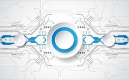 Abstract technologisch concept als achtergrond met diverse technologieelementen illustratievector Stock Afbeeldingen