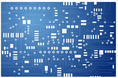 Abstract technology. Background on blue background Stock Images