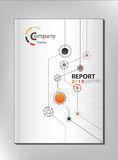 Abstract technology  Annual report Cover design Royalty Free Stock Photos