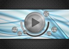 Abstract Technology App Icon With Music Button Royalty Free Stock Photography