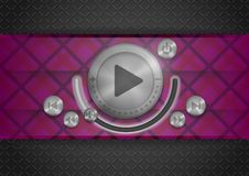 Abstract Technology App Icon With Music Button Stock Images