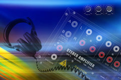 Abstract technology background. Musical background Royalty Free Stock Image