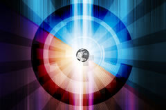 Abstract technology background. Colorful circle Royalty Free Stock Photos