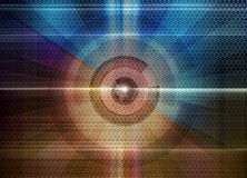 Abstract technology background. Abstract circles, fantastic technology background Stock Images