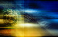 Abstract technology background. Graphic illustration Stock Photography