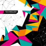 Abstract technology background. Stock Photos
