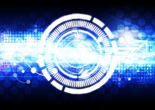 Abstract technology background. Blue abstract technology background design Royalty Free Stock Images