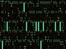 Abstract Technology Background. An abstract code technology background. With light bit security encoding on black background royalty free illustration