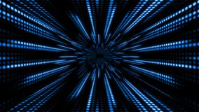 Abstract technology background with animation slow motion of light stripes dot circle Blue Black. And Animation of data transferring or computer`s data files stock footage