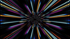 Abstract technology background with animation slow motion of light stripes dot circle Blue Pink. And Animation of data transferring or computer`s data files stock video