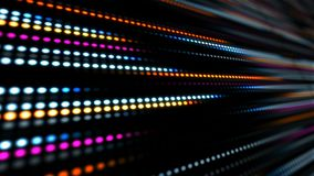 Abstract technology background with animation slow motion of light stripes dot circle Blue Pink. And Animation of data transferring or computer`s data files stock video footage