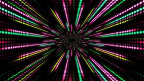 Abstract technology background with animation slow motion of light stripes dot circle Green Pink. And Animation of data transferring or computer`s data files stock video footage