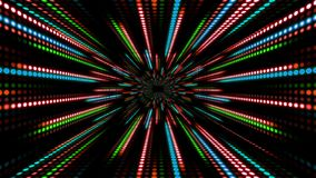Abstract technology background with animation slow motion of light stripes dot circle Red Green Blue. And Animation of data transferring or computer`s data stock video